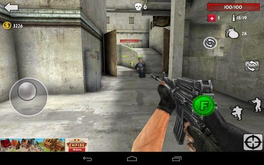 Следование за недругом - Gun Strike 3D для Android