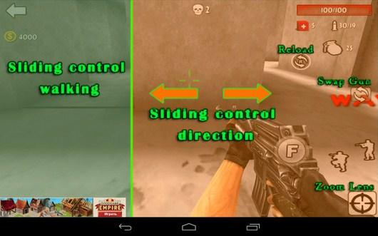 Обучение управлению - Gun Strike 3D для Android