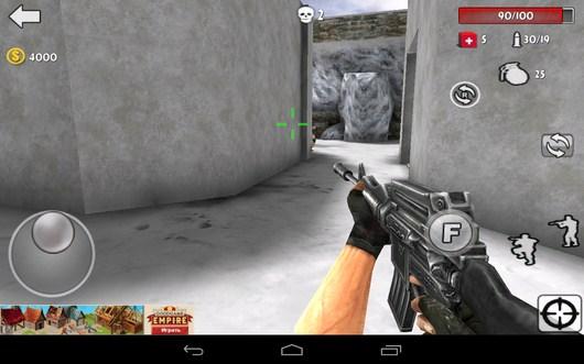 Начало игры - Gun Strike 3D для Android