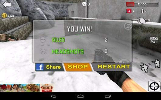 Вы уибили всех врагов - Gun Strike 3D для Android