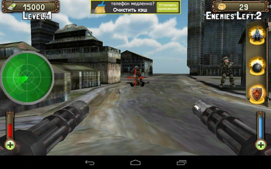 Два недруга убиты - Gunship Counter Shooter 3D для Android