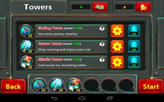 Улучшения - Little Commander 2 для Android