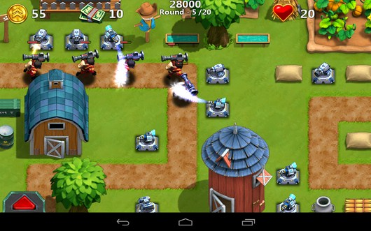 Уничтожение воинов - Little Commander 2 для Android