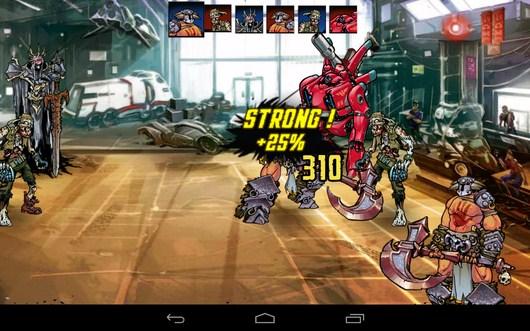 Удар - Mutants: Genetic Gladiators для Android