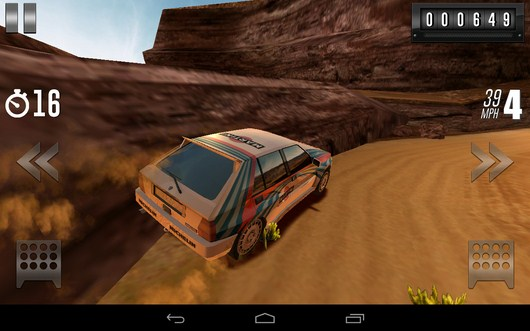 Наезд на бугор - Rally Racer Drift для Android
