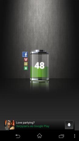 Уровень заряда - Talking Battery Widget для Android