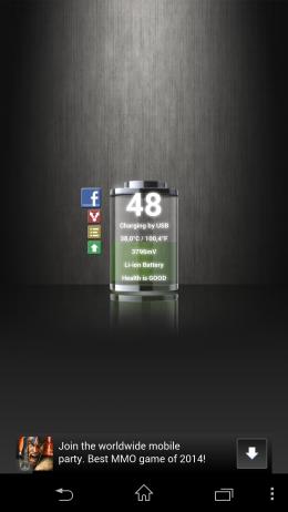 Дополнительная информация - Talking Battery Widget для Android