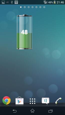 Виджет - Talking Battery Widget для Android