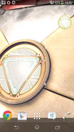 Значок - Iron Man 3 LWP для Android