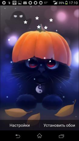 Черный котенок - Yin The Cat для Android