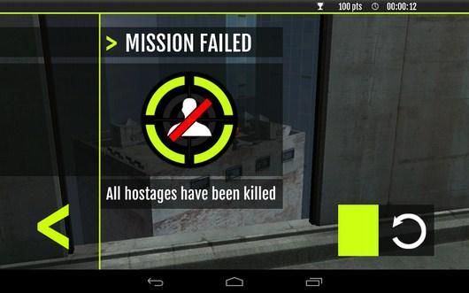 Миссия провалена - Sniper Tactical для Android