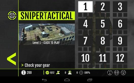 Миссии - Sniper Tactical для Android