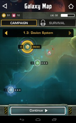 Карта - Strikefleet Omega для Android
