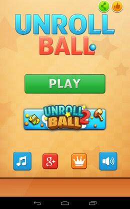 Головоломка Unroll Ball для Android
