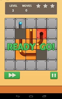 Начало уровня - Unroll Ball для Android