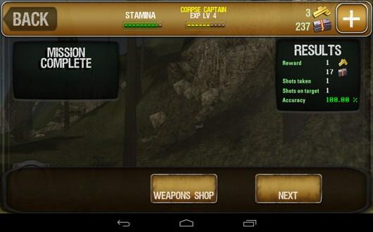 Результат охоты - Ночное виденье - iHunt Z для Android