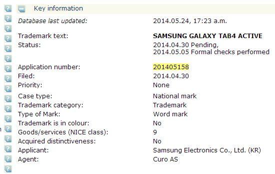 Galaxy Tab 4 Active