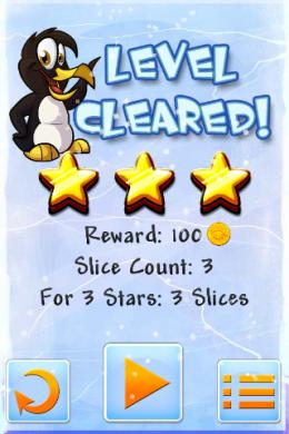 Ура, уровень Slice Ice закончен!