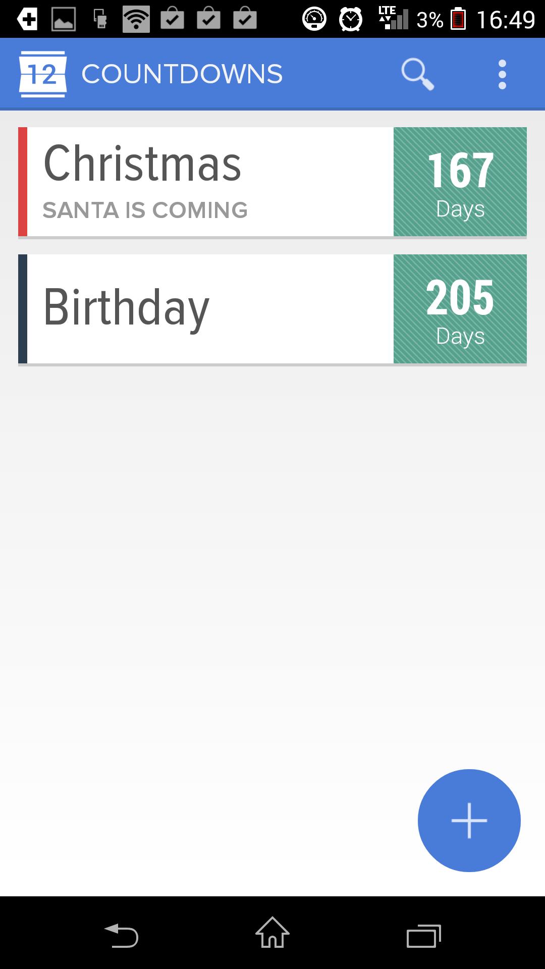 Записи - Holo Countdown для Android