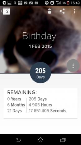 День рождения - Holo Countdown для Android