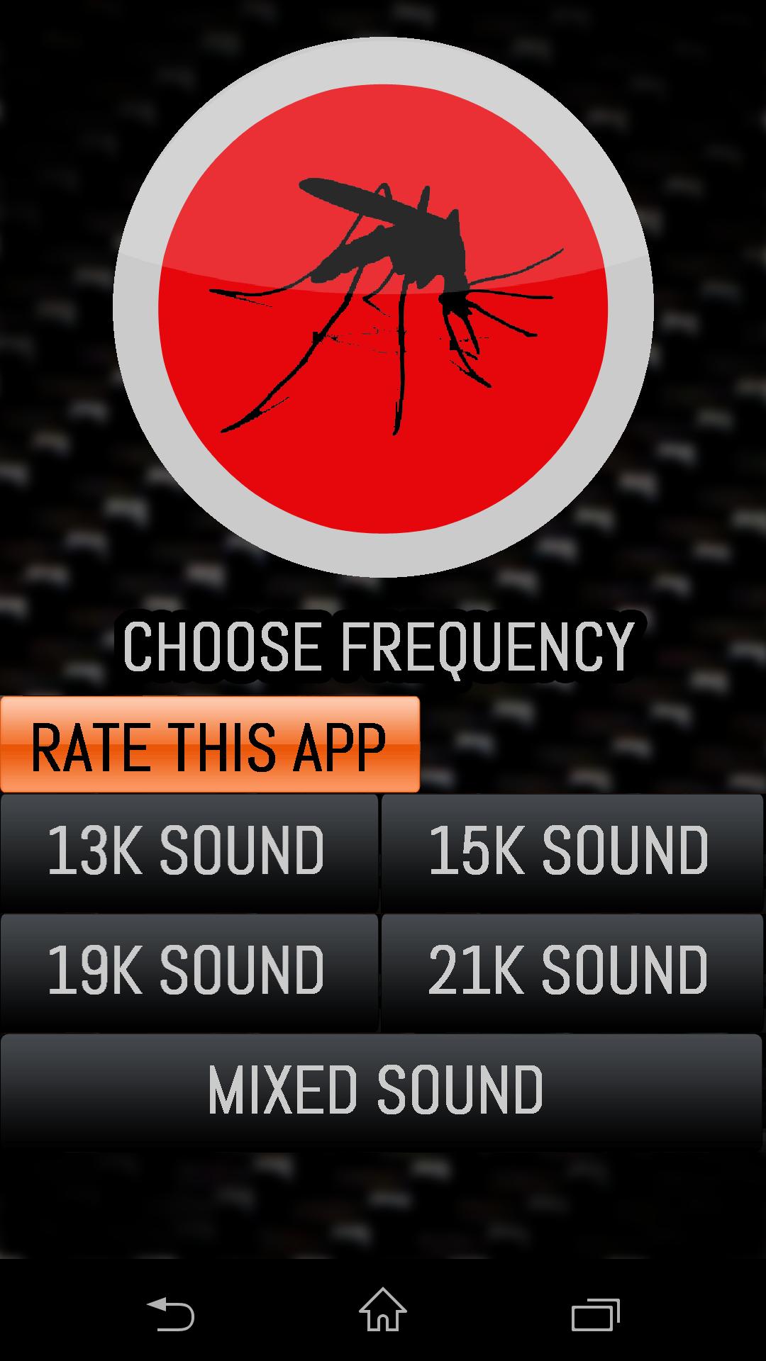 Выбор частоты - Mosquito Repellent для Android
