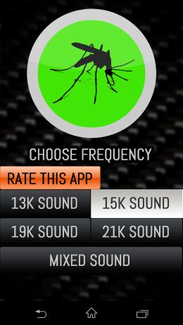 Интерфейс - Mosquito Repellent для Android