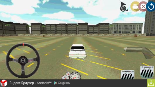 На полигоне игры Drift игра 3D для Андроид