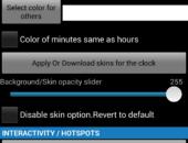 Параметры - Sense Analog Clock бесплатно для Android