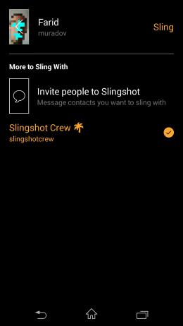 Параметры - Slingshot для Android