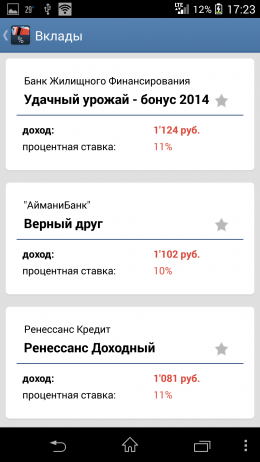 Результаты - Extra Credits для Android