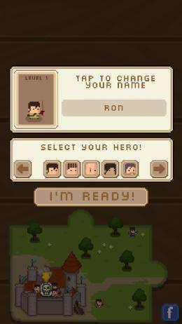 Выбираем персонажа в игре Horde of Heroes для Андроид