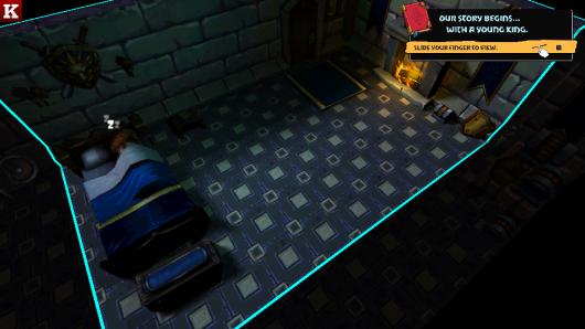Комната рыцаря в игре Lionheart Tactics для Андроид