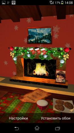 Камин - Christmas Fireplace LWP для Android