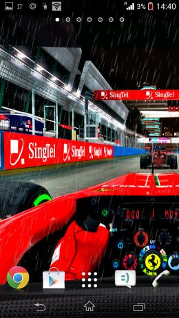 Машина Ferrari - Formula Live Wallpaper для Android