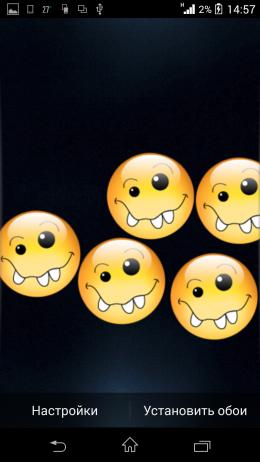 Смайлики - H Screen Balls Live Wallpaper для Android