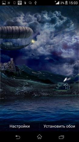 Ночь - Beautiful Seasons Weather HD для Android