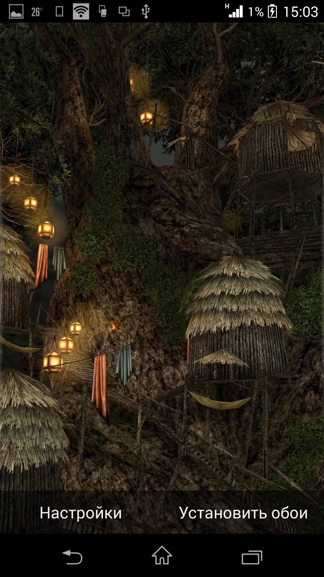 Превью - Magic Tree 3D Live Wallpaper для Android
