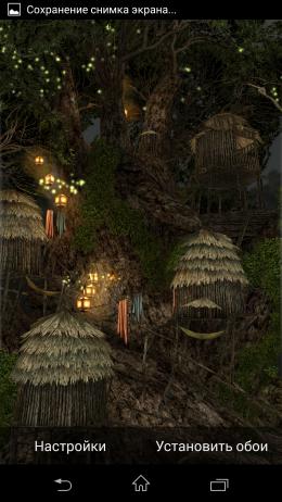 Волшебный лес - Magic Tree 3D Live Wallpaper для Android