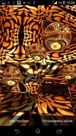 Необычная тема - Reflections HD Live Wallpaper для Android