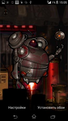 Предосмотр - Robot Squad Live Wallpaper для Android