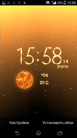 Часы - Weather Live Wallpaper для Android