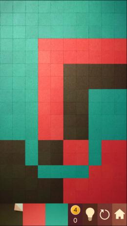 Сложный уровень игры KAMI  для Андроид