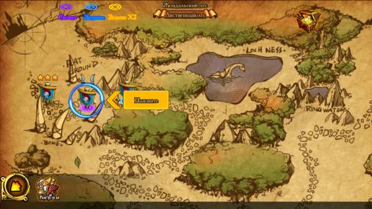 Карта местности в игре Лучезарье для Андроид