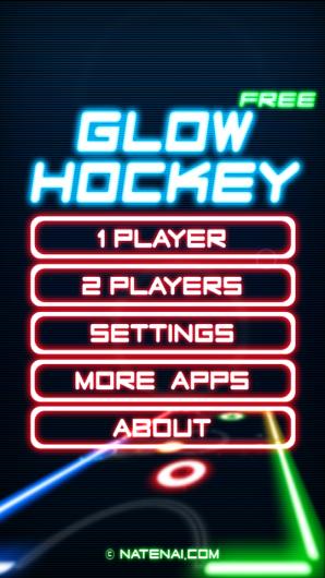 Меню игры Glow Hockey для Андроид