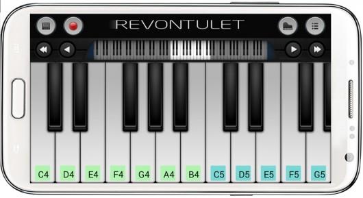 Приложение Perfect Piano для Android - расположение клавиш