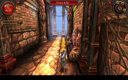 Игра Бегущая Тень для Samsung Galaxy - Тень бежит по подземелью и собирает предметы