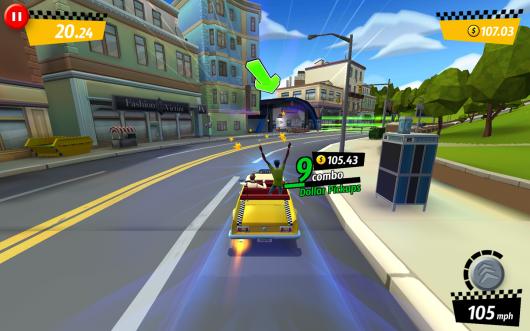 Crazy Taxi City Rush для Samsung Galaxy - выполняй трюки