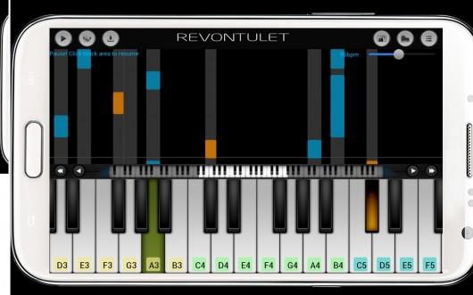 Приложение Perfect Piano для Android - проигрыш звука