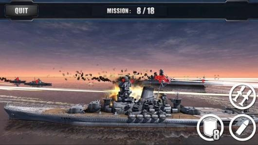 World Warships Combat для Android - множество уровней