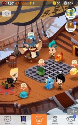 Игра Battle Camp для Samsung Galaxy - исследуем мир